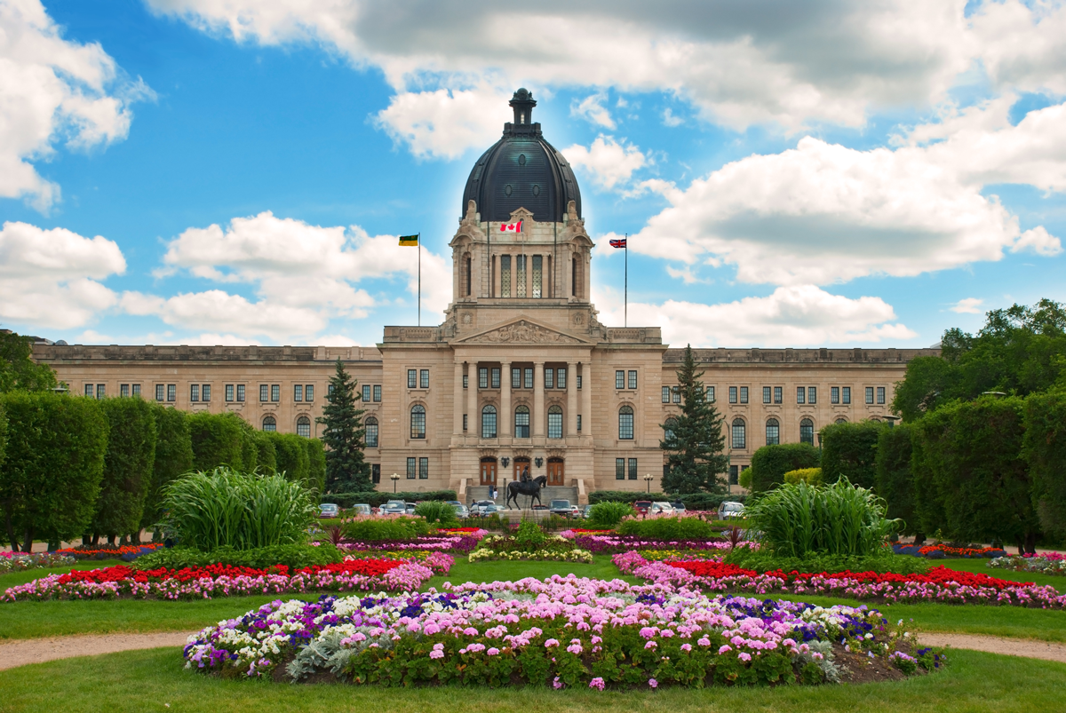 The Saskatchewan legislative building is one of the top attractions recommended by TripAdvisor when booking Regina hotels.